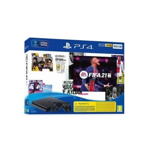Consola Sony PlayStation 4 PS4 Black 500GB + 2x DualShock 4 + FIFA 21
