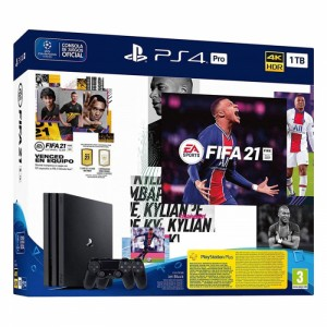 Consola Sony PlayStation 4 PS4 Pro 1TB + 2x DualShock 4 + FIFA 21